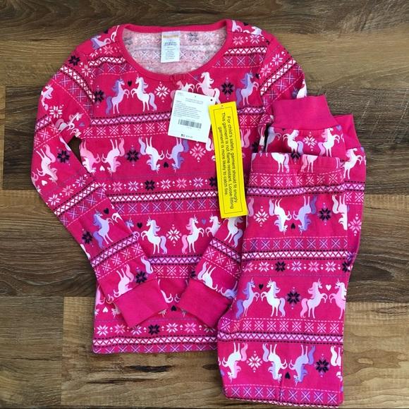 Gymboree Christmas Pajamas 2021 Girls Kids Nwt Gymboree Christmas Girls Gymmies Unicorn Pajamas 12 18 24m 10